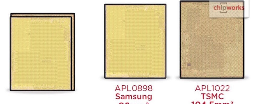 Apple A9 chip made by Samsung and TSMC