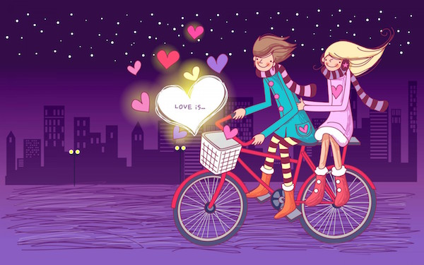couple cartoon HD wallpaper