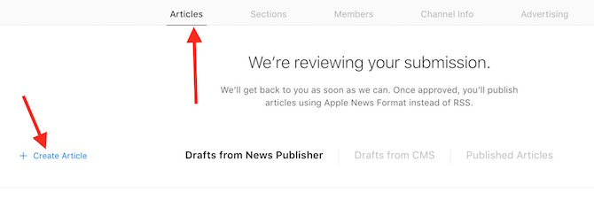 Write article for Apple News