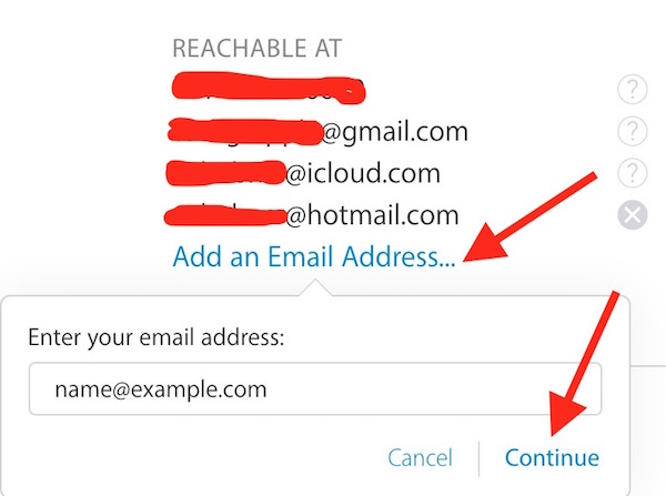 Add New Email Address to Apple Account