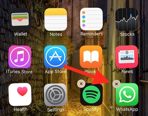 Removing app from iPhone