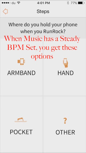 Music with steady BPM