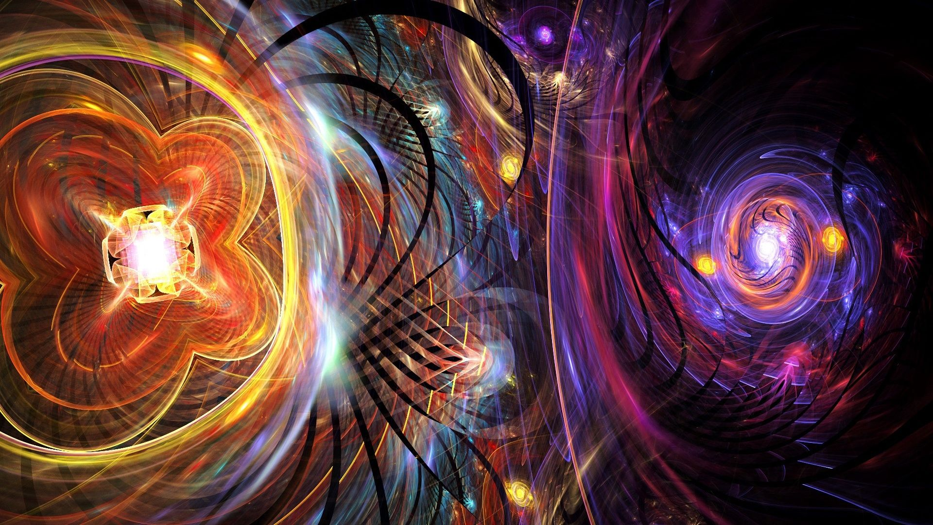 Psychedelic Wallpaper glass universe