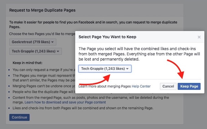 select-fb-page-you-want-to-keep