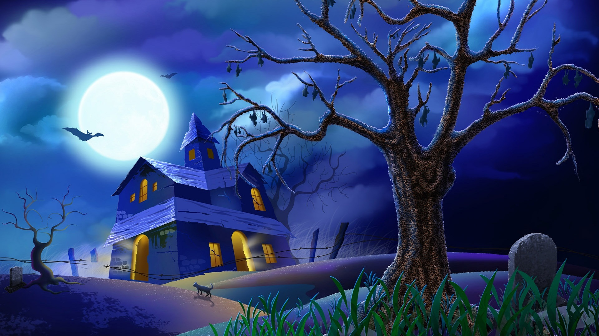 beautiful-halloween-images-in-blue