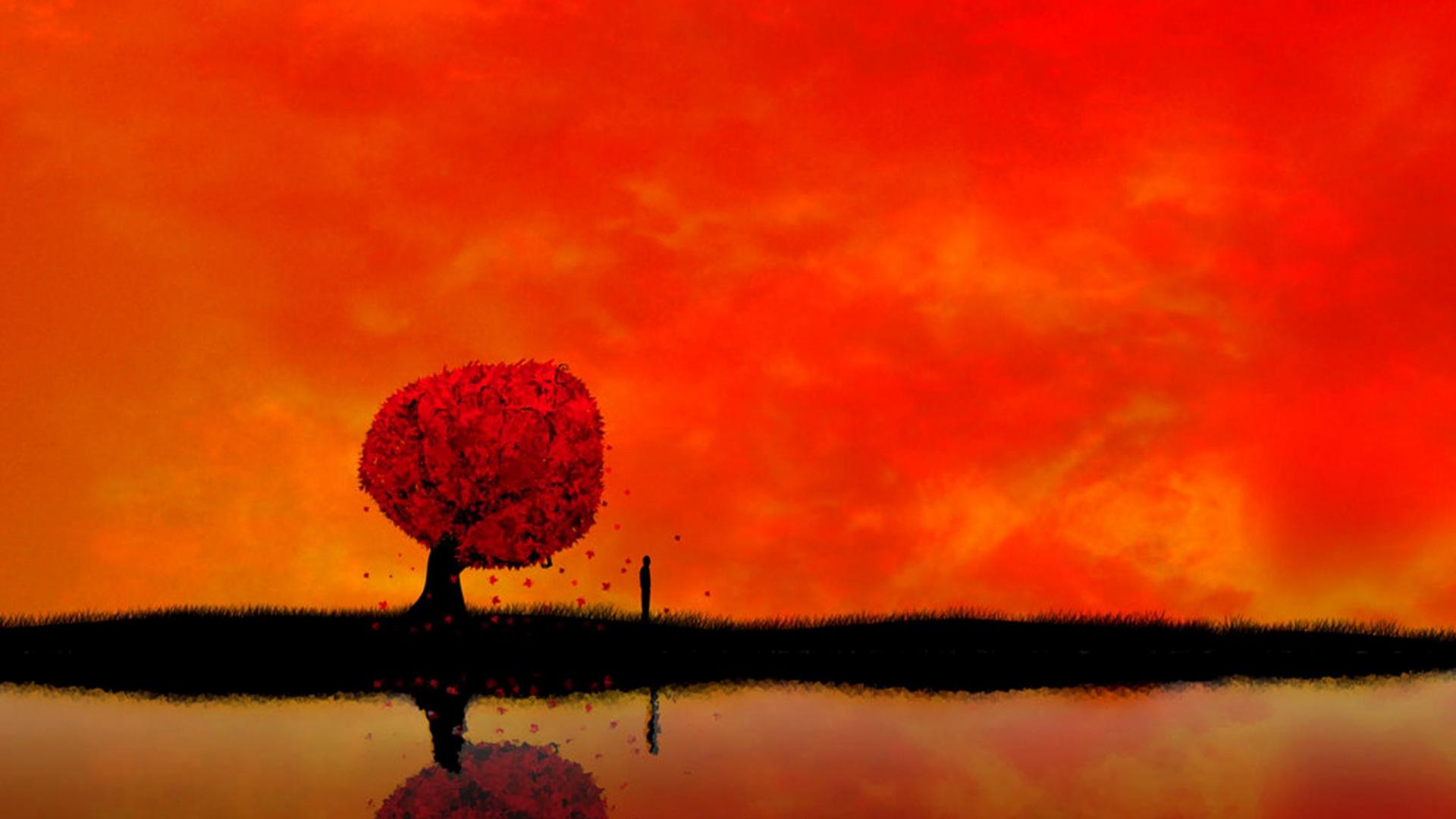 fall-wallpapers-red-sky