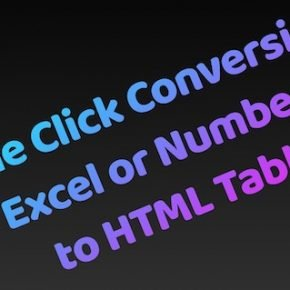 Excel to HTML Table